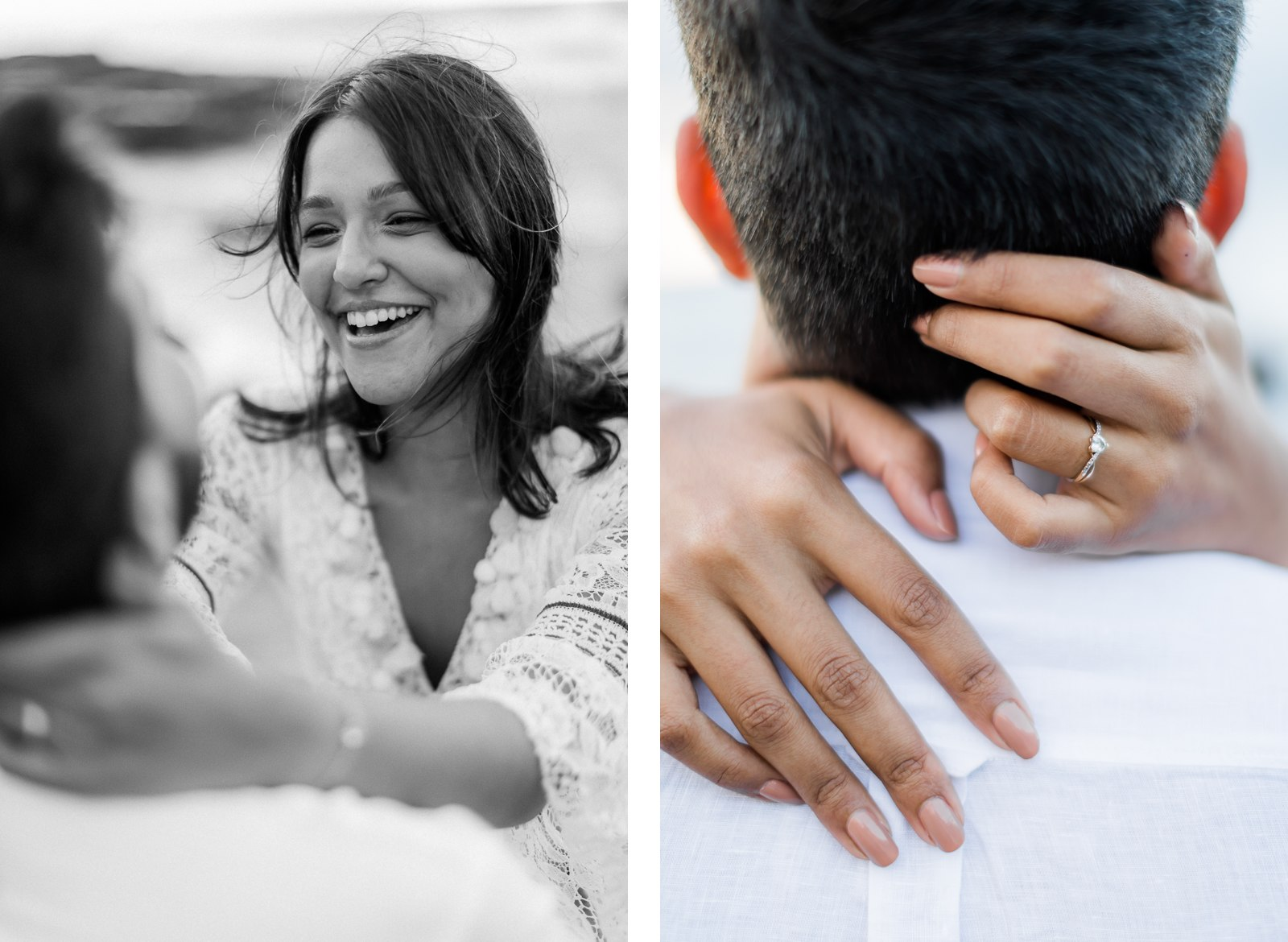 Photographie de Mathieu Dété, photographe de mariage et de couple à Saint-Pierre sur l'île de la Réunion 974, présentant les détails de l'alliance sur les mains d'une femme