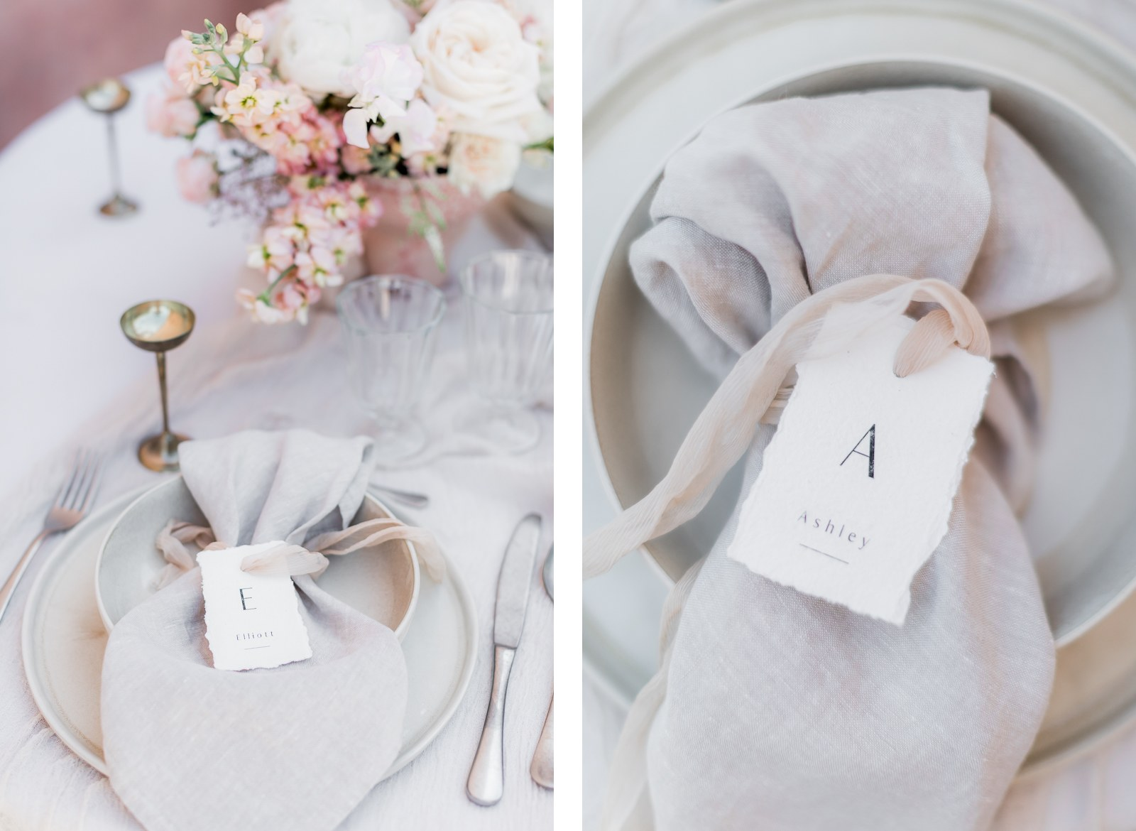 Photographie de Mathieu Dété présentant le détail de la table de mariage