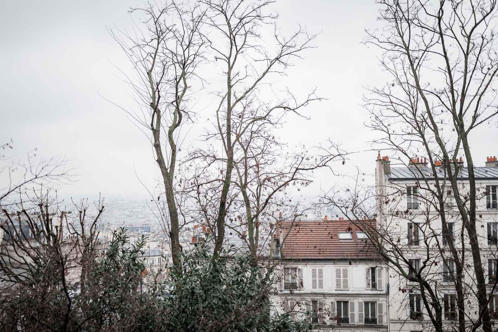 Photographie de Mathieu Dété, photographe de mariage et portrait sur l'île de la Réunion (974), présentant une image de Paris vu de Montmartre