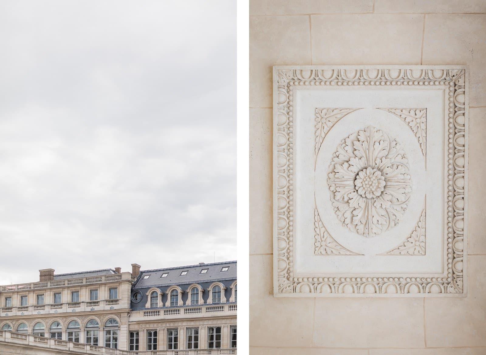 Photo de Mathieu Dété, détail des sculptures du Palais Royal de Paris