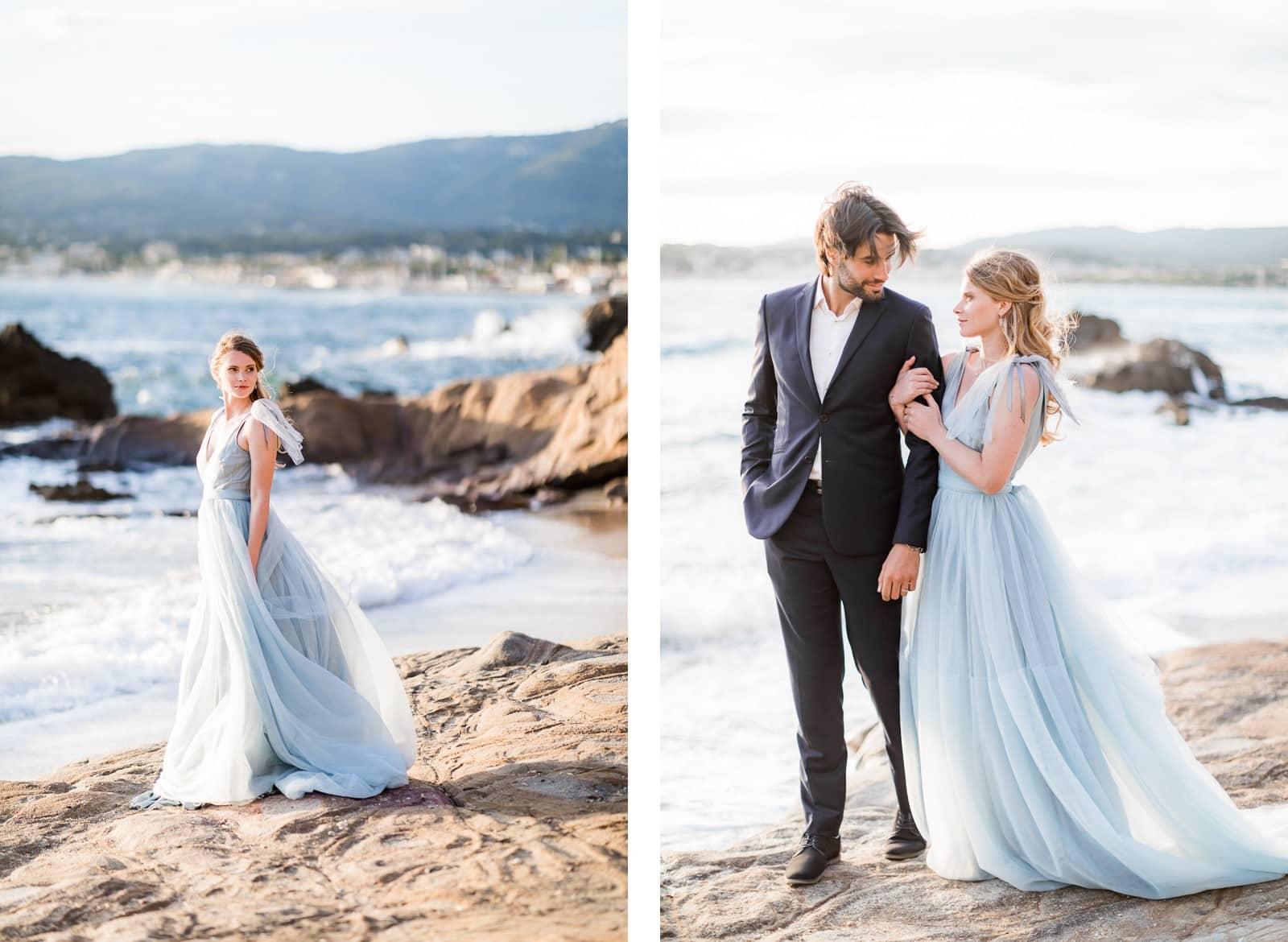 Photographie de Mathieu Dété, photographe de mariage sur l'île de la Réunion (974), présentant un couple amoureux en bord de mer