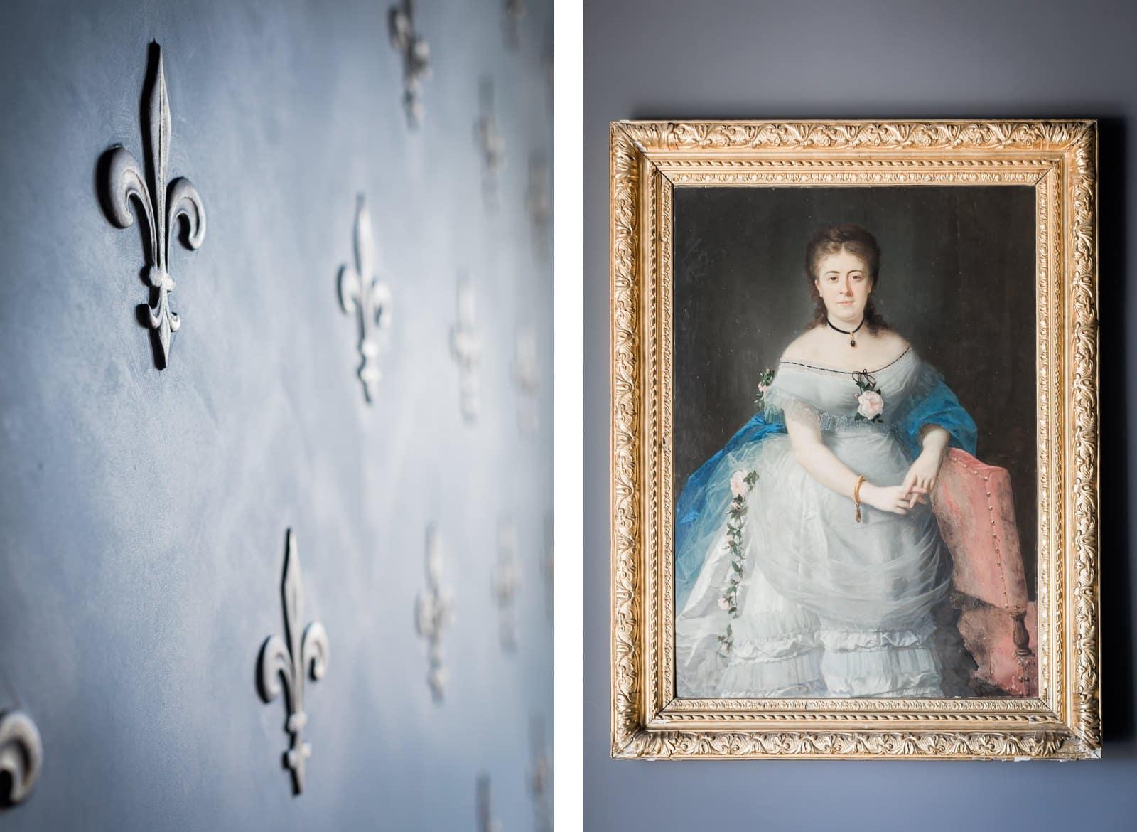 Photographie de Mathieu Dété présentant un tableau présent à l'intérieur de la Villa Brignac à Ollioules