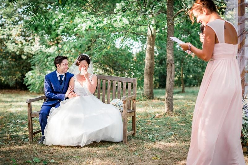 Les mariés pendant la cérémonie - Mathieu Dété Photographe