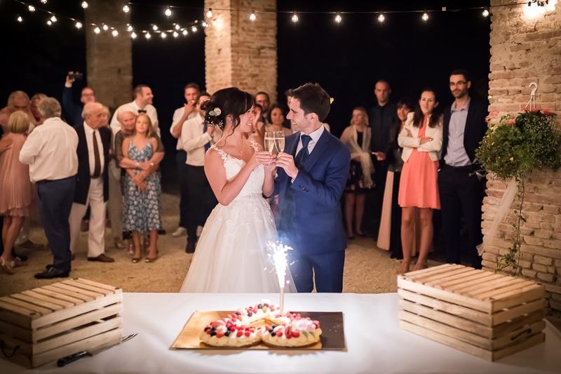 Soirée, gâteau et champagne - Mathieu Dété Photographe