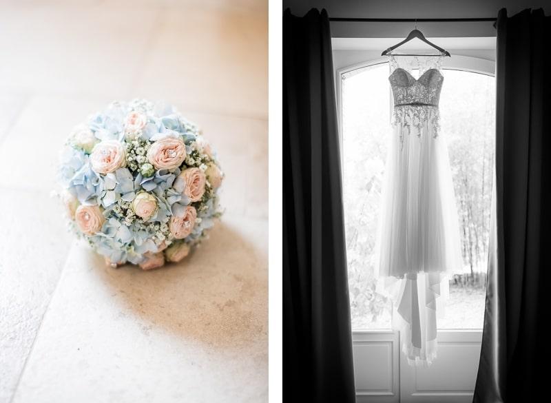 Détails du bouquet et de la robe - Mathieu Dété Photographe