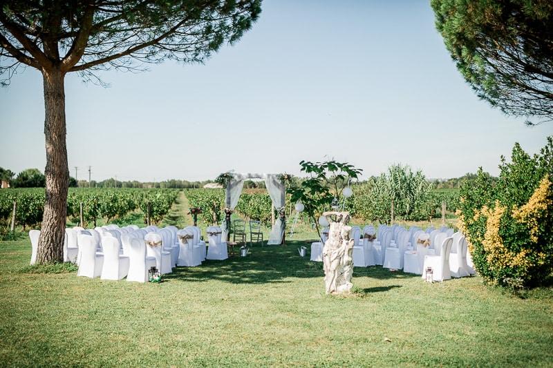 Décoration du mariage au Château Saint Louis