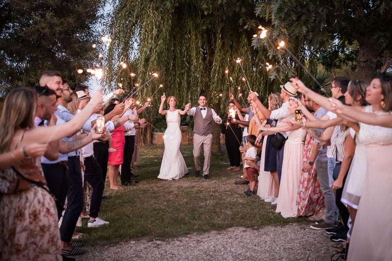 Entrée des mariés au Château Saint Louis
