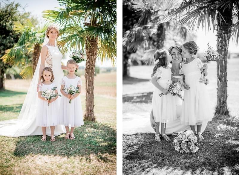 Mariée et ses enfants