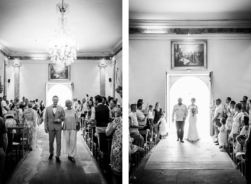 Entrée des mariés à l'église