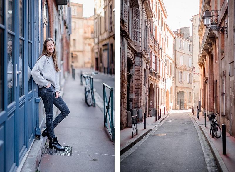 Ruelles et potrait lifestyle - Photographe mariage portrait lifestyle Toulouse