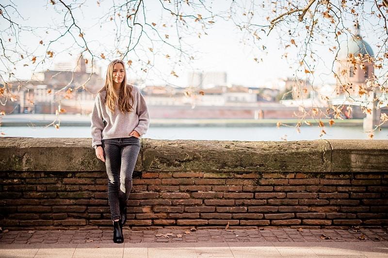 Portrait en bord de Garonne - Photographe mariage portrait lifestyle Toulouse