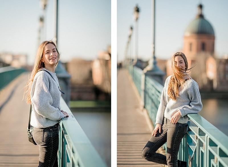 Portraits sur Pont Saint-Pierre - Photographe mariage portrait lifestyle Toulouse
