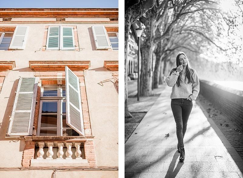 Façade colorée et portrait dans Toulouse - Photographe mariage portrait lifestyle Toulouse